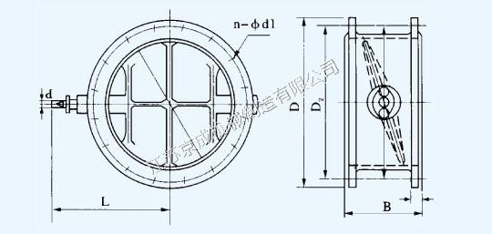 圆风门系列产品尺寸及理论重量